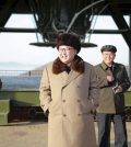 North Korea leader Kim Jong Un smiles as he visits Sohae Space Center in Cholsan County, North Pyongan province for the testing of a new engine for an intercontinental ballistic missile (ICBM) in this undated photo released by North Korea's Korean Central News Agency (KCNA) on April 9, 2016.    REUTERS/KCNA ATTENTION EDITORS - THIS PICTURE WAS PROVIDED BY A THIRD PARTY. REUTERS IS UNABLE TO INDEPENDENTLY VERIFY THE AUTHENTICITY, CONTENT, LOCATION OR DATE OF THIS IMAGE. FOR EDITORIAL USE ONLY. NOT FOR SALE FOR MARKETING OR ADVERTISING CAMPAIGNS. THIS PICTURE IS DISTRIBUTED EXACTLY AS RECEIVED BY REUTERS, AS A SERVICE TO CLIENTS. NO THIRD PARTY SALES. SOUTH KOREA OUT. NO COMMERCIAL OR EDITORIAL SALES IN SOUTH KOREA      TPX IMAGES OF THE DAY