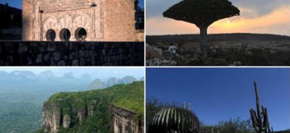 nuevos sitios en la lista del patrimonio mundial de la ONU