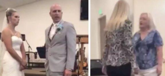 Suegra interrumpe boda de su hijo