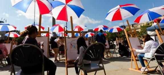 nside Out festival in Trafalgar Square