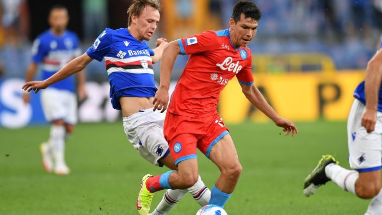 Chucky Lozano dio dos asistencias en el triunfo del Napoli sobre el Sampdoria