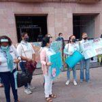 Protestan fuera de Congreso contra el aborto