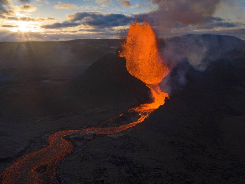 Erupción volcán