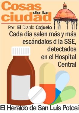 Cada día salen más y más escándalos de la SSE, detectados en el Hospital Central