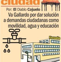 Va Gallardo por dar solución a demandas ciudadanas como movilidad, agua y educación