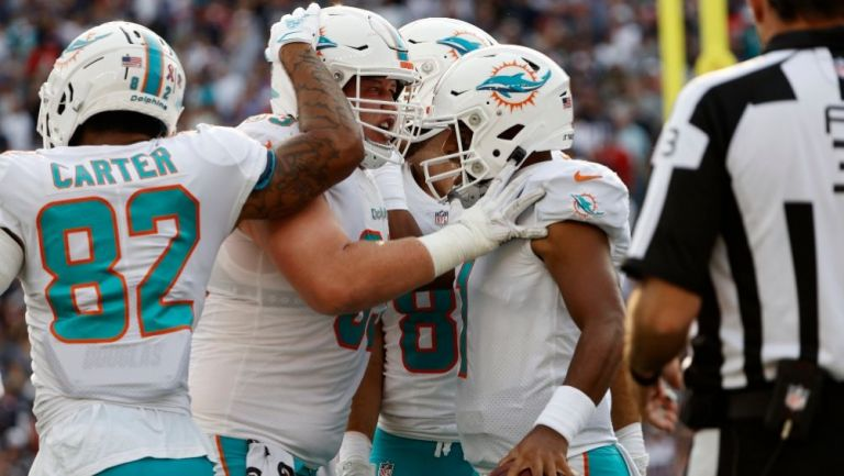 Miami derrotó a domicilio a los Patriots en el debut de Mac Jones