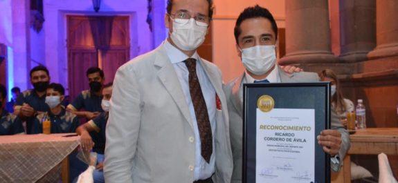 Ricardo Cordero recibió el Premio Municipal del Deporte