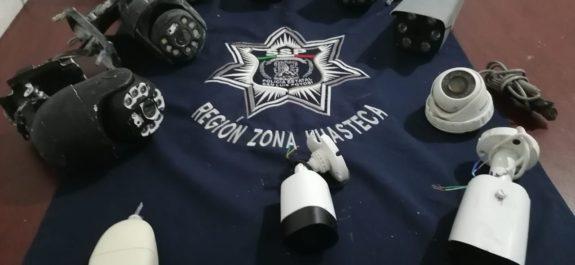 Policias estatales y Sedena realizan nuevo aseguramiento de cámaras de video vigilancia