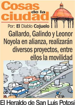 Gallardo, Galindo y Leonor Noyola en alianza,  realizarán diversos proyectos, entre ellos la movilidad