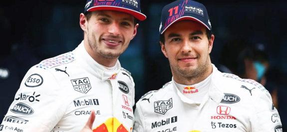 """""""Bien hecho, buen trabajo"""": Max Verstappen reconoció el esfuerzo de Checo Pérez"""